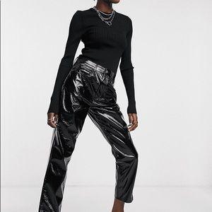 Reclaimed Vintage Faux Leather Moms Pants
